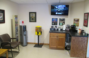 Auto repair waiting area